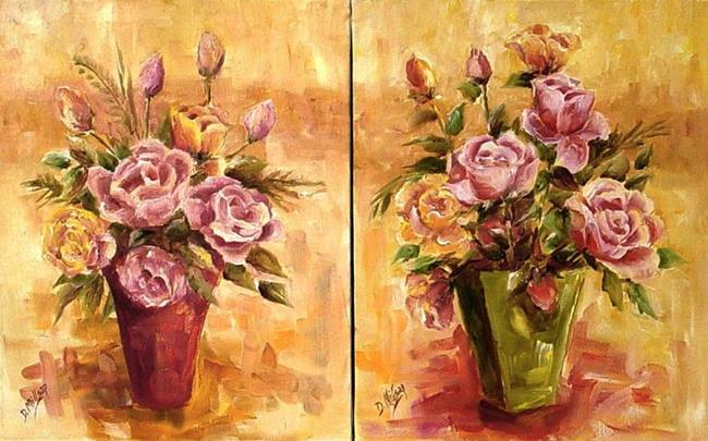 Art: Sweet Roses by Artist Diane Millsap