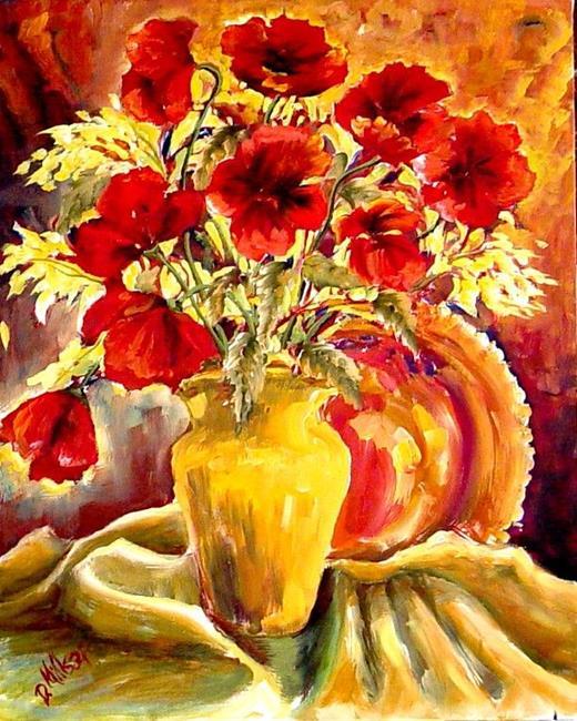 Art: Red Poppies - SOLD by Artist Diane Millsap