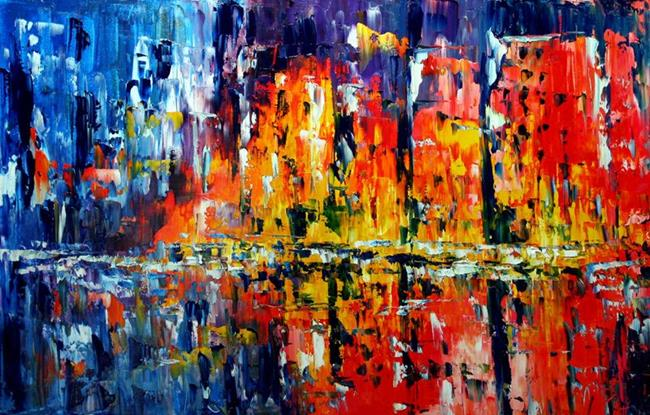 Art: City Streets by Artist Laurie Justus Pace