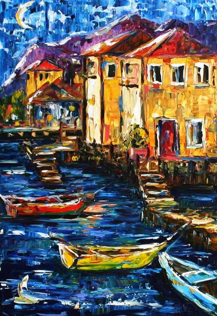 Art: Evening on the Dock by Artist Laurie Justus Pace