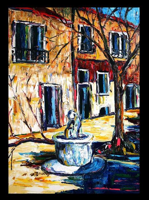 Art: Fountain by the Tree by Artist Laurie Justus Pace