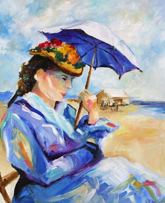 Art: At The Beach by Artist Laurie Justus Pace
