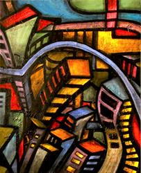 Art: Downtown by Artist Roy Guzman