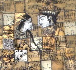 Detail Image for art Divine Lovers (Triptych) 3