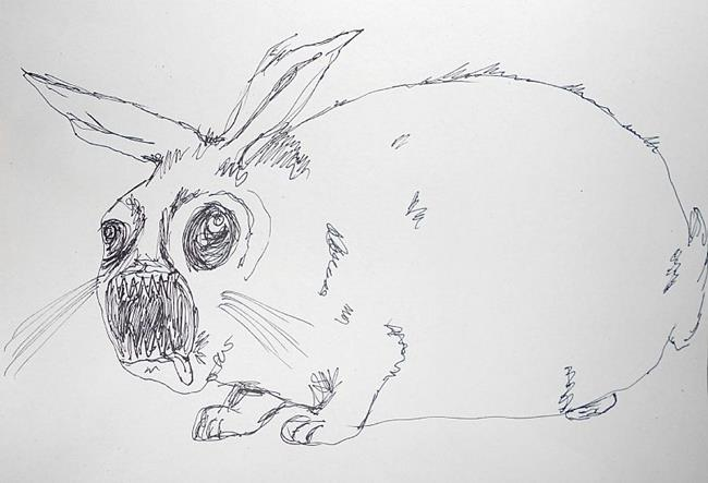 Art: zombie bunny by Artist  Tennille Bankes aka The Naked Artist