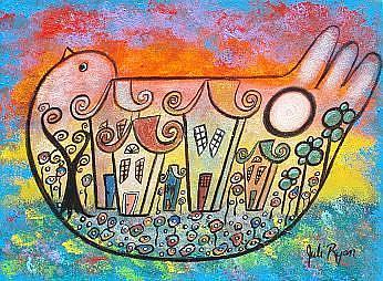 Art: Peace Surrounds Us by Artist Juli Cady Ryan