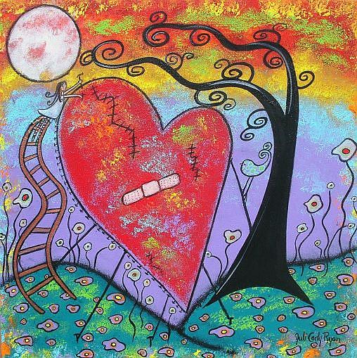 Art: Her Healing Heart by Artist Juli Cady Ryan