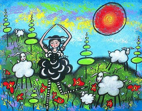 Art: Celebrating The Black Sheep by Artist Juli Cady Ryan