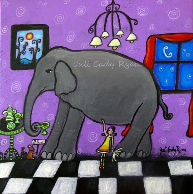 Art: The Elephant In The Room by Artist Juli Cady Ryan