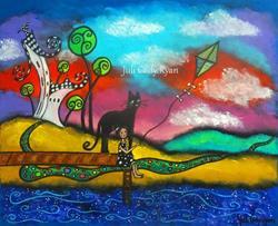Art: Summer of the Purple Lake by Artist Juli Cady Ryan