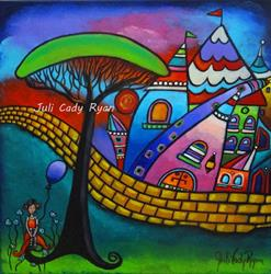 Art: The Girl With the Purple Balloon by Artist Juli Cady Ryan