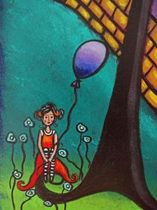 Detail Image for art The Girl With the Purple Balloon