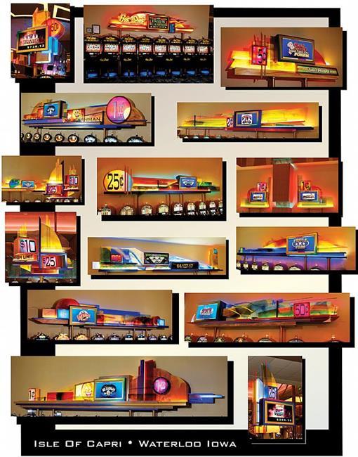 Art: Interior Slot Displays for Isle Of Capri Casino by Artist Kathy Morton Stanion