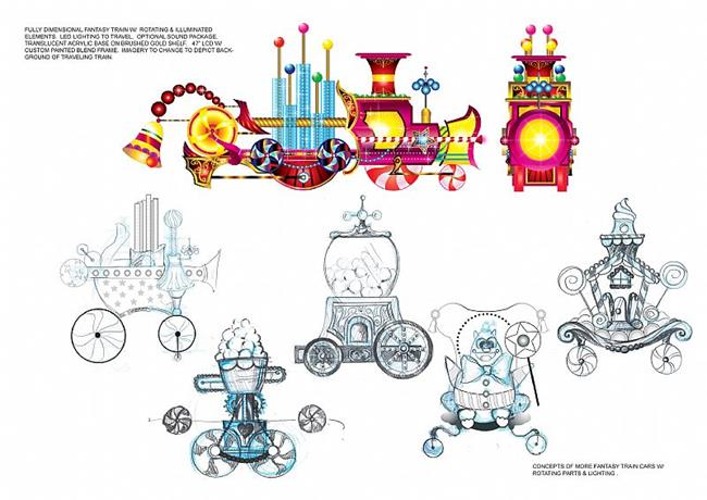 Art: Candy Train Car Concepts by Artist Kathy Morton Stanion