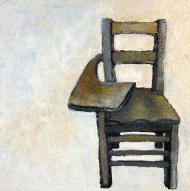 Art: Lecture Room Chair - personal collection by Artist Elizabeth Fiedel