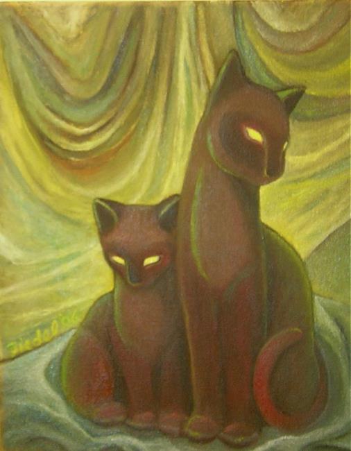 Art: TV Cats by Artist Elizabeth Fiedel