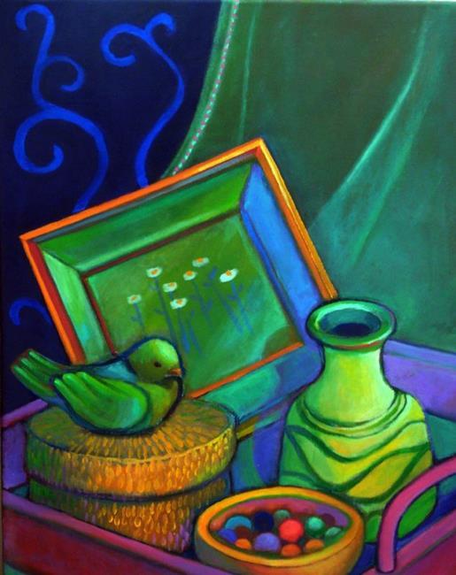 Art: Still Life With Clay Marbles by Artist Elizabeth Fiedel