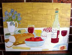 Art: Lunch, Anyone? by Artist Fran Caldwell