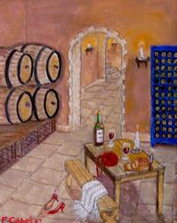Art: Private Cellar (SOLD) by Artist Fran Caldwell