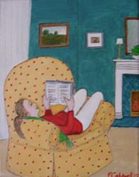 Art: The Reading Chair (SOLD) by Artist Fran Caldwell