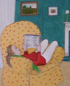 Detail Image for art The Reading Chair (SOLD)