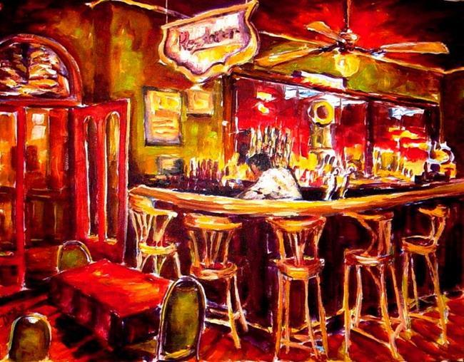 Art: Hotel Bar - SOLD by Artist Diane Millsap