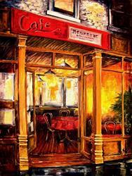 Art: Late NIght Cafe SOLD by Artist Diane Millsap