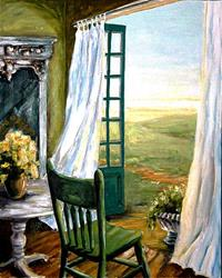 Art: Silent Waiting - SOLD by Artist Diane Millsap