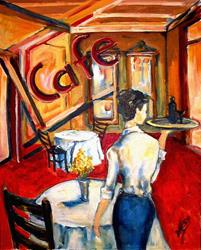 Art: Cafe - SOLD by Artist Diane Millsap