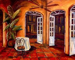 Art: New Orleans Courtyard - SOLD by Artist Diane Millsap