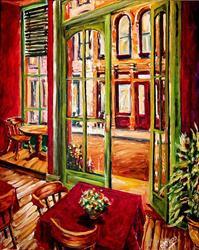 Art: Inside the Desoto House - SOLD by Artist Diane Millsap