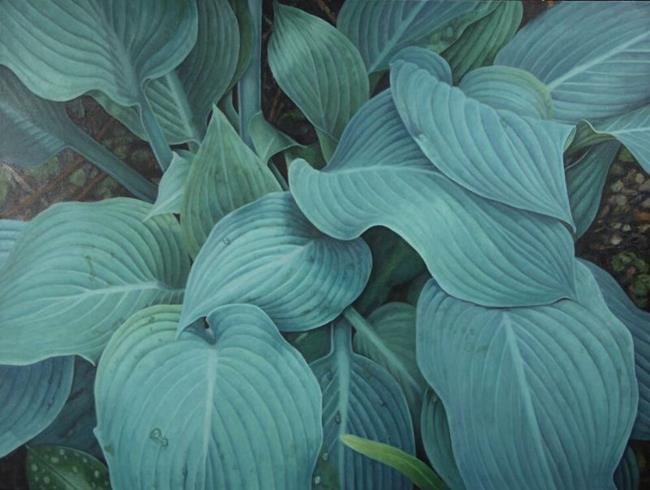 Art: Blue Hostas by Artist Harlan