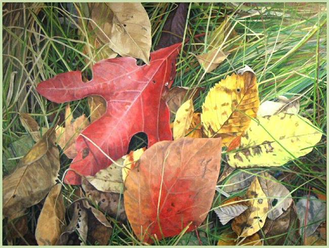 Art: Sassafras and Grasses - oil painting SOLD by Artist Harlan