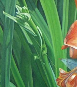 Detail Image for art Red Lily and Bug