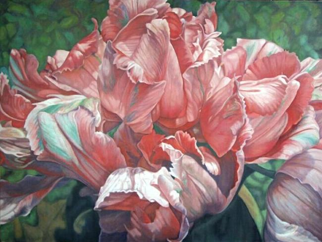 Art: Parrot Tulips, Oil Painting by Artist Harlan
