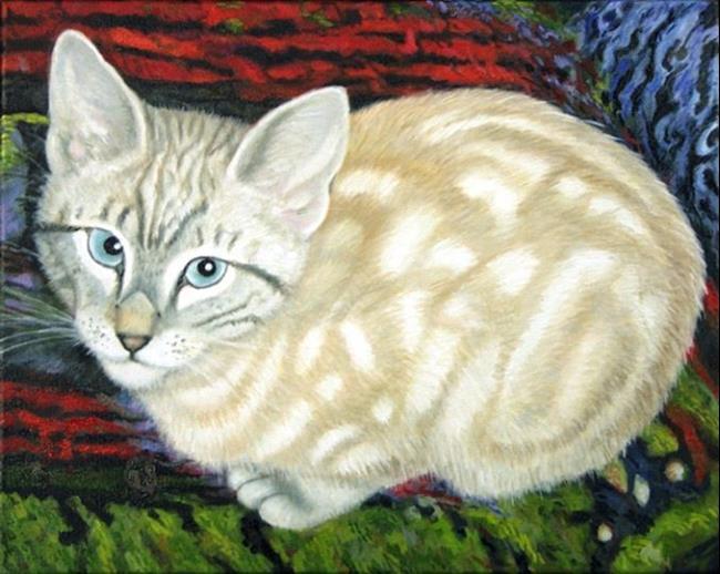 Art: Bertie - Katrina Rescue Cat by Artist Harlan