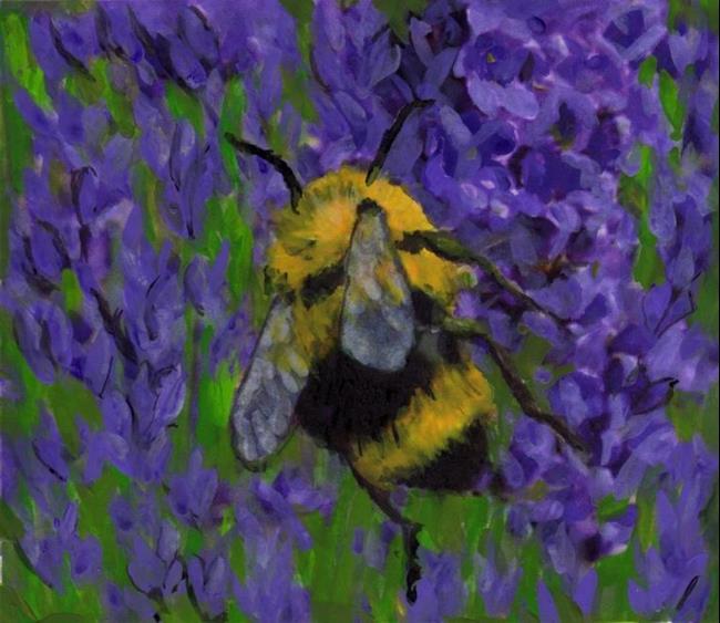Art: Bee Lavender  by Artist Harlan