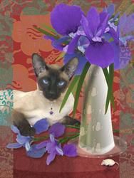 Art: Iris Reclines by Artist Carol Cross