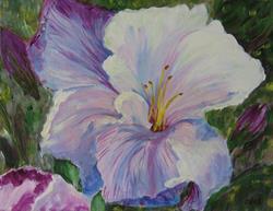 Art: Purple Iris by Artist Delilah Smith