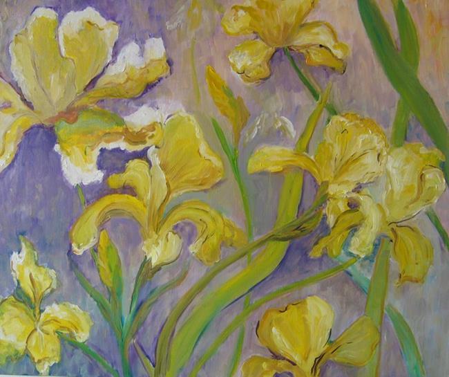 Art: Grandma's Iris by Artist Delilah Smith