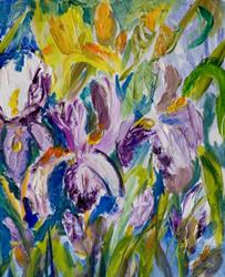 Art: Iris 2-sold by Artist Delilah Smith