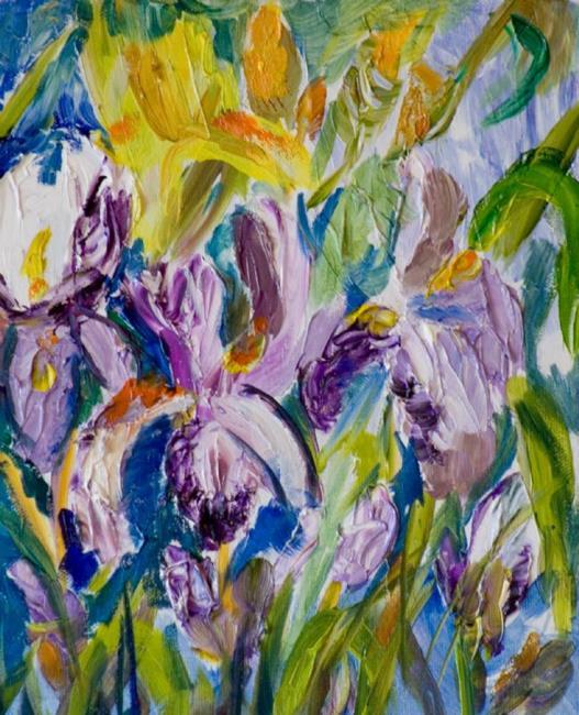 Art: Iris 2-sold by Artist Delilah Smith