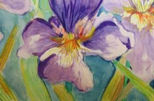 Detail Image for art Three Iris-SOLD