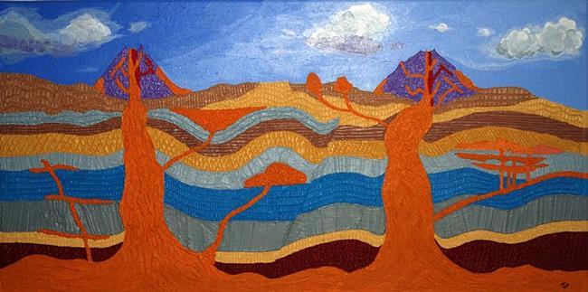 Art: Volcano by Artist Joeallen Gibson