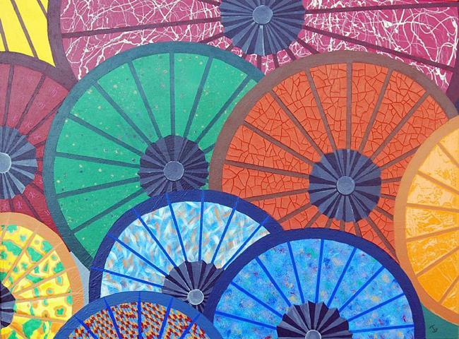 Art: Parasols by Artist Joeallen Gibson
