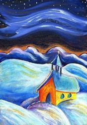 Art: Esta Noche Santa (This Holy Night) by Artist Christine Wasankari