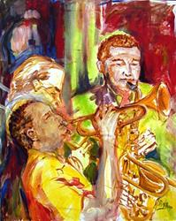 Art: Hot Jazz - SOLD by Artist Diane Millsap