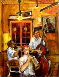 Art: Jazz - Preservation Hall - SOLD by Artist Diane Millsap