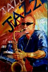 Art: Jazz Man - SOLD by Artist Diane Millsap