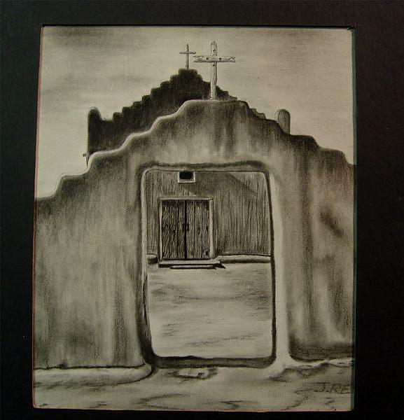 Art: Old Church by Artist Jovon Vitella